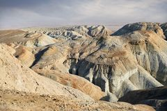 Mountains in the desert stock image