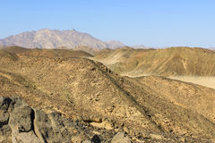 The mountains in the desert of North Africa Royalty Free Stock Photography