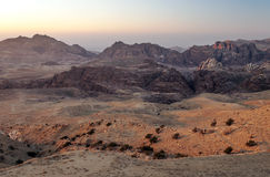 Mountains in the desert of Petra Stock Images