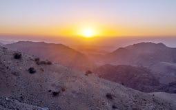 Mountains in the desert of Petra Stock Photos