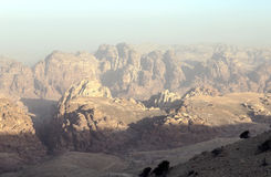 Mountains in the desert of Petra Stock Photo
