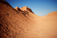 Mountains in desert. Mountains of sand in  Africa desert Royalty Free Stock Image