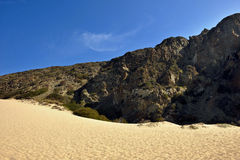 Mountains and desert sand. Close to Malibu in California, USA Royalty Free Stock Photo