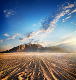 Mountains in desert Stock Photography