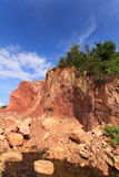 Mountains are digging for Utilization. Red soil and mountains are digging for Utilization Stock Photos