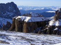 Mountains in Dolomites. In winter Stock Photography