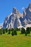 Mountains in Dolomites Royalty Free Stock Photos
