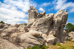Mountains and dramatic sky. Corsica, France Royalty Free Stock Photo