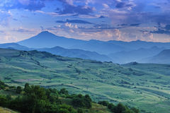 Mountains in dusk Royalty Free Stock Image