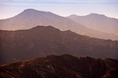 Mountains at dusk. Gran Canaria mountains during sunset Stock Image