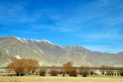 Mountains in Early Spring, Lhasa, Tibet. Royalty Free Stock Photography