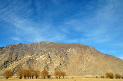 Mountains in Early Spring, Lhasa, Tibet. Royalty Free Stock Photo