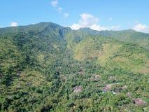 Mountain in Bali in Indonesia stock photo