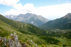 Mountains of the eastern Sayan. Stock Photography