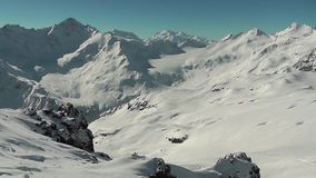 Mountains in the Elbrus area stock footage