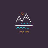 Mountains emblem design Royalty Free Stock Photo