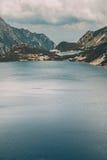 Mountains enclosing the lakes Stock Image