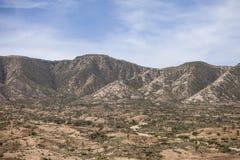 Mountains in Ethiopia. Mountain village in Ethiopia near the Somali Border Royalty Free Stock Image