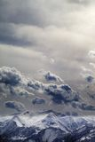 Mountains in evening and cloudy sky Royalty Free Stock Image