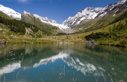Mountains FalzerAlp reflection Royalty Free Stock Images