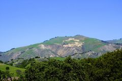 Mountains farmland Lompoc California Royalty Free Stock Images