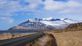 Mountains of Faskrudsfjordur in Iceland Royalty Free Stock Image