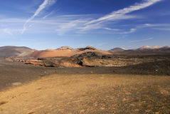 Mountains of fire, Montanas del Fuego, Timanfaya.i Royalty Free Stock Images