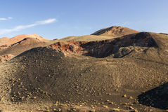Mountains of fire, Montanas del Fuego, Timanfaya.i Royalty Free Stock Photography