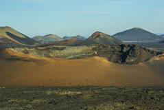Mountains of fire, Montanas del Fuego, Timanfaya.i Stock Image