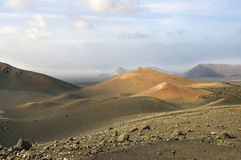 Mountains of fire, Montanas del Fuego, Timanfaya Stock Photo