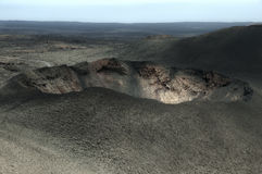 Mountains of fire,Timanfaya on Lanzarote Royalty Free Stock Images