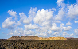 Mountains of fire,Timanfaya National Park in Lanzarote Royalty Free Stock Image