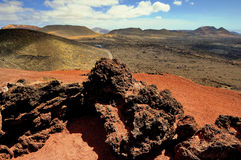 Mountains of fire,Timanfaya National Park in Lanzarote Island Stock Image