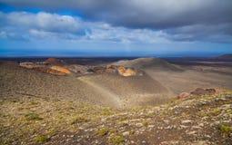 Mountains of fire Timanfaya Stock Image