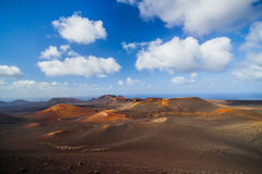 Mountains of fire Timanfaya Stock Photography