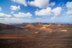 Mountains of fire Timanfaya Royalty Free Stock Photo