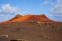 Mountains of fire Timanfaya Stock Image