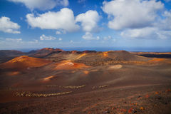 Mountains of fire Timanfaya Royalty Free Stock Photography