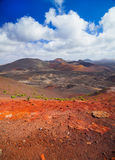 Mountains of fire Timanfaya Royalty Free Stock Image