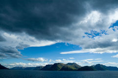 Mountains in a fjord Stock Photography