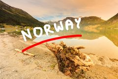 Mountains and fjord in Norway, Royalty Free Stock Photos