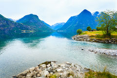 Mountains and fjord in Norway, Royalty Free Stock Photography