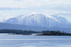 Mountains and fjords Stock Photography