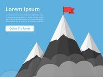 Mountains with Flag Stock Photos