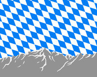 Mountains with flag of Bavaria Stock Photos
