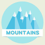 Mountains. Flat design Royalty Free Stock Images