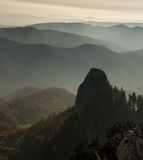 Mountains in fog Royalty Free Stock Photography