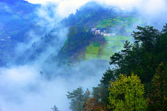 Mountains and fog Royalty Free Stock Photography