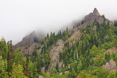 Mountains and fog. Mountains in fog, Olympic National Park, Washington Royalty Free Stock Images