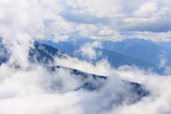 Mountains and fog Stock Photography